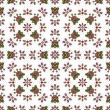 Modello senza cuciture dei fiori semplici Fotografia Stock