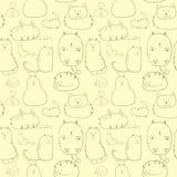 Modello senza cuciture dei gatti Fotografie Stock Libere da Diritti