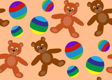 Modello senza cuciture dei giocattoli del ` s dei bambini Fotografia Stock Libera da Diritti