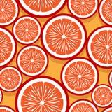 Modello senza cuciture dei grafici arancio della fetta della frutta fotografie stock