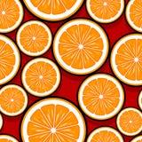 Modello senza cuciture dei grafici arancio della fetta della frutta fotografie stock libere da diritti