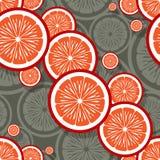Modello senza cuciture dei grafici arancio della fetta della frutta immagine stock