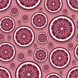 Modello senza cuciture dei grafici arancio della fetta della frutta immagini stock