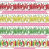 Modello senza cuciture dei peperoncini caldi Illustrazione di vettore illustrazione vettoriale