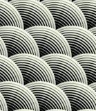 Modello senza cuciture dei petali di griglia di vettore decorato dell'estratto illustrazione di stock