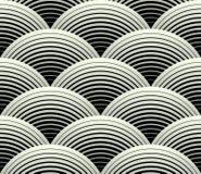 Modello senza cuciture dei petali di vettore decorato di griglia illustrazione vettoriale
