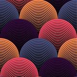 Modello senza cuciture dei petali di vettore geometrico decorato di griglia illustrazione di stock