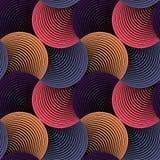 Modello senza cuciture dei petali di vettore geometrico di griglia illustrazione di stock