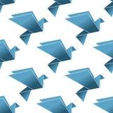 Modello senza cuciture dei piccioni e delle colombe di origami Fotografia Stock Libera da Diritti