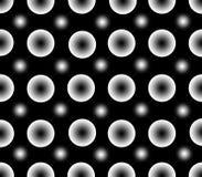 Modello senza cuciture dei punti di bianco di pendenza Fotografie Stock