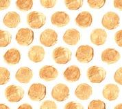 Modello senza cuciture dei punti dorati Fotografie Stock Libere da Diritti
