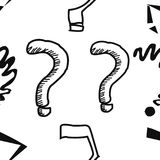 Modello senza cuciture dei punti interrogativi Disegnato a mano royalty illustrazione gratis