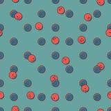 Modello senza cuciture dei punti sorridente rossi e blu Fotografie Stock