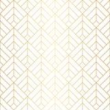 Modello senza cuciture dei quadrati geometrici con le linee minimalistic dell'oro fotografia stock libera da diritti