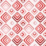 Modello senza cuciture dei quadrati rossi psichedelici del partito Fotografie Stock