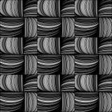 Modello senza cuciture dei ramoscelli del salice, intreccio di cestini illustrazione di stock