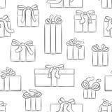 Modello senza cuciture dei regali di natale illustrazione vettoriale