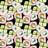 Modello senza cuciture dei sushi illustrazione vettoriale