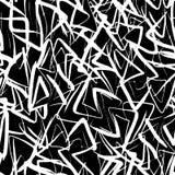 Modello senza cuciture dei triangoli astratti disegnati a mano dell'inchiostro Fotografia Stock Libera da Diritti