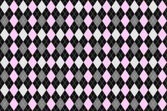 Modello senza cuciture del argyle classico per il tessuto, stampa di carta Illustrazione di vettore Grey rosa Immagini Stock