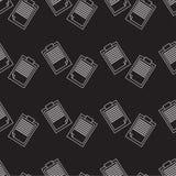 Modello senza cuciture del blocco note, nota del profilo Fotografia Stock Libera da Diritti