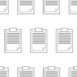 Modello senza cuciture del blocco note, nota del profilo Immagini Stock Libere da Diritti
