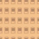 Modello senza cuciture del blocco note, nota del profilo Fotografia Stock