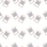 Modello senza cuciture del blocco note, nota del profilo Immagine Stock