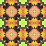 Modello senza cuciture del caleidoscopio di vitrage del mosaico illustrazione vettoriale