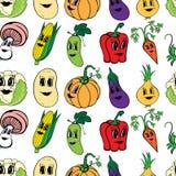 Modello senza cuciture del cereale di verdure divertente del fumetto illustrazione di stock