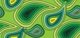 Modello senza cuciture del cetriolo delle bande delle tonalità differenti su un fondo verde Fotografia Stock