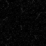Modello senza cuciture del cielo di tiraggio stellato della mano, anelli di scarabocchio ed incroci in galassia e stile delle ste illustrazione vettoriale