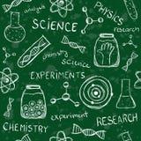 Modello senza cuciture del consiglio scolastico scientifico Fotografie Stock