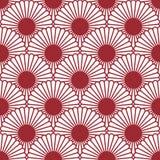 Modello senza cuciture del crisantemo semplice di stile giapponese Fiore tradizionale Il fondo può essere copiato senza alcune cu illustrazione di stock