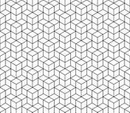 Modello senza cuciture del cubo geometrico astratto Fondo minimalistic semplice di progettazione grafica, ornamento del tessuto V Immagine Stock