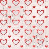 Modello senza cuciture del cuore Fotografie Stock Libere da Diritti