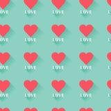 Modello senza cuciture del cuore del biglietto di S. Valentino astratto rosa Fotografie Stock