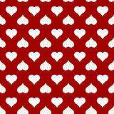 Modello senza cuciture del cuore per la carta di giorno di biglietti di S. Valentino immagine stock