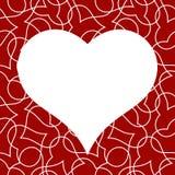 Modello senza cuciture del cuore per la carta di giorno di biglietti di S. Valentino fotografia stock