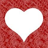 Modello senza cuciture del cuore per la carta di giorno di biglietti di S. Valentino fotografie stock libere da diritti