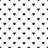 Modello senza cuciture del cuore, struttura senza fine Cuori neri su fondo bianco, illustrazione di stock