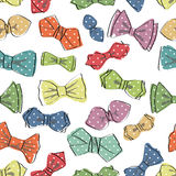 Modello senza cuciture del farfallino Vettore divertente Immagini Stock Libere da Diritti