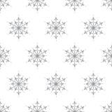 Modello senza cuciture del fiocco di neve semplice ed elegante - progettazione della carta di inverno Fotografia Stock Libera da Diritti