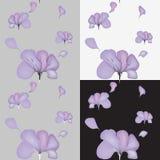 Modello senza cuciture del fiore con batik d'imitazione royalty illustrazione gratis