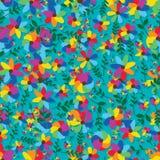 Modello senza cuciture del fiore dell'arcobaleno piccolo grande royalty illustrazione gratis
