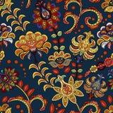 Modello senza cuciture del fiore disegnato a mano Modello senza cuciture variopinto con i fiori e le foglie di fantasia Doodle lo royalty illustrazione gratis