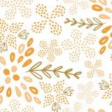 Modello senza cuciture del fiore giallo di estate illustrazione di stock