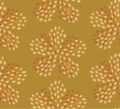 Modello senza cuciture del fiore giallo verde di estate illustrazione vettoriale