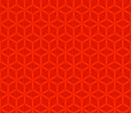 Modello senza cuciture del fiore rosso di vettore, fondo illustrazione vettoriale