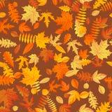 Modello senza cuciture del fondo delle foglie di autunno ENV 10 illustrazione di stock